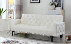 white leather futon sofa stylish white futon frame cabinets beds sofas and morecabinets
