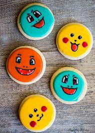 pokemon cookies pikachu charmander and squirtle ashlee marie