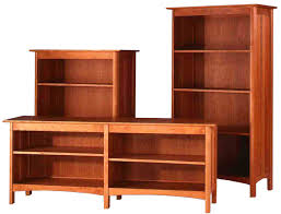 Natural Wood Bookcases Captivating Solid Wood Bookcase Cherry Wood Construction Natural