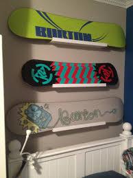snowboard display hanging snowboards burton k2 ikea ribba