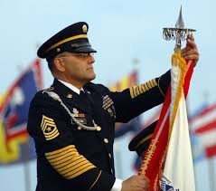 Us Military Flags Sgt Maj David Doyon Lead Nco For The U S Army Training And