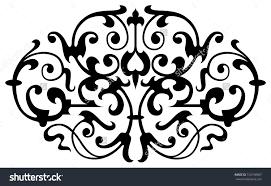 ornamental design digital artwork stock illustration 152158907