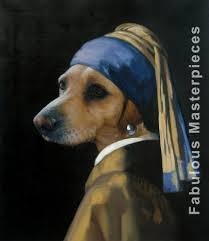 painting the girl with the pearl earring dog painted as the girl with pearl earring fabulous masterpieces