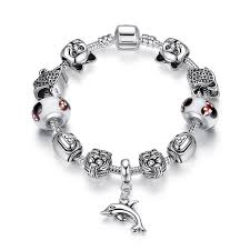 beads bracelet pandora images European pandora style charm bracelets with lion silver charms jpg