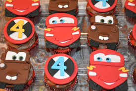 lightning mcqueen and tow mater cupcakes for my grandson to take to his preschool for his birthday these were so fun to make and as you can see by my