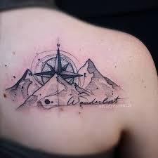 40 mountain tattoo ideas compass symbols and mountains
