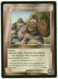 earth blue mountain dwarves uncommon card