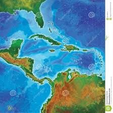 Map Caribbean Color Caribbean Islands Map Stock Images Image 22755814