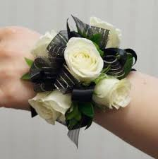 black and white corsage ballard blossom inc black tie wrist corsage seattle wa 98107 ftd
