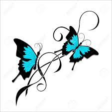 butterflies tribal royalty free cliparts vectors and
