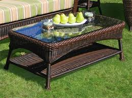 wicker outdoor coffee table coffee tables thippo