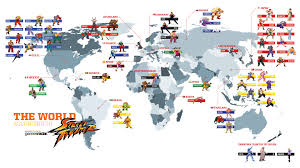 World Map Thailand by Street Fighter Every Character World Map Pixelbedlam