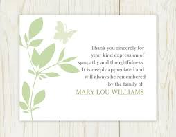 sympathy thank you cards items similar to butterfly funeral thank you card digital file