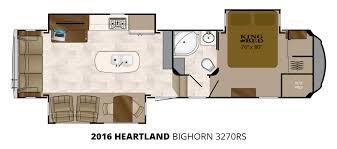 heartland 5th wheel floor plans heartland bighorn fifth wheel