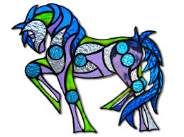 color me tribal equine artglass