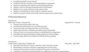resume food service skills skills of a server for resume server resume objective samples