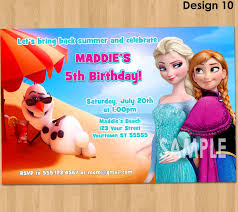 frozen summer birthday invitation frozen summer invitation