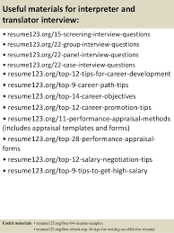 Job Objective On Resume by Top 8 Interpreter And Translator Resume Samples