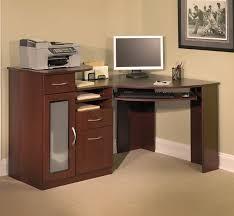 Cherry Wood Corner Computer Desk Furniture Charming Minimalist Wooden Corner Computer Desk