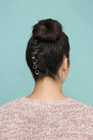 flip hair upsidedown and cut upside down french braid bun blinged out braid for the holidays