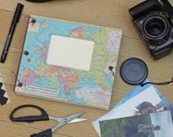 expandable scrapbook travel scrapbook album for photos and mementos personalized