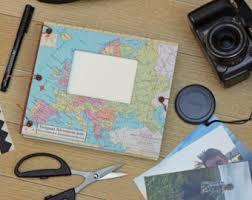 expandable scrapbook travel scrapbook album for photos and mementos personalized