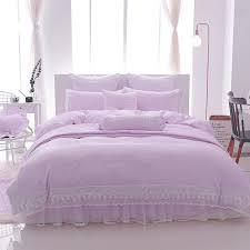 Princess Duvet Cover Online Shop Light Purple Princess Bedding Sets Lace Bedlinen Duvet