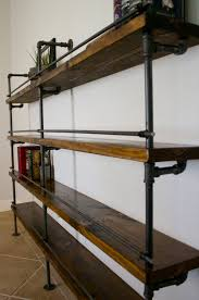 Industrial Pipe Bookcase Industrial Shelving Unit Industrial Bar Industrial Bookcase