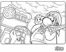 Saraapril In Club Penguin Rainy Day Coloring Page Rainy Day Coloring Pages