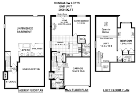 Bungalow With Loft Floor Plans by Block U201ch U201d Townhome Harbour Heights Port Dover Ontario
