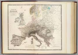 Europe Mountains Map by Mountains Of Europe David Rumsey Historical Map Collection
