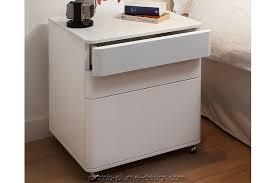 caisson de bureau sur roulettes cosimo caisson de bureau blanc laqué pratique et moderne de la