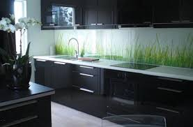 contemporary kitchen wallpaper ideas modern kitchen design black cabinets electric cooktop under