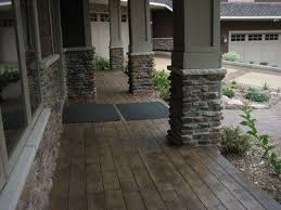 porch flooring ideas concrete porch floor sted and stained to look like wide wood