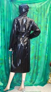 raincoat for bike riders lady u0027s classic liquid shiney black vinyl hooded raincoat macintosh