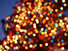 white christmas lights background wallpaper