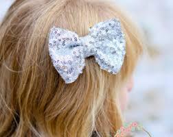 hair bow with hair gold hair bow etsy