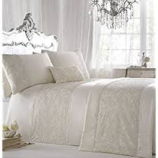 Ivory Duvet Cover Set Amazon Com Athena White Embroidered 3 Piece Full Queen Duvet