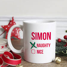 christmas mug personalised or christmas mug by hurley