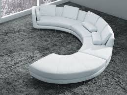 White Bonded Leather Curved Sectional Sofa Set Modern Living - Curved contemporary sofa living room furniture