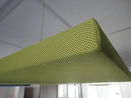 ceiling acoustic panel for interior walls fabric colored