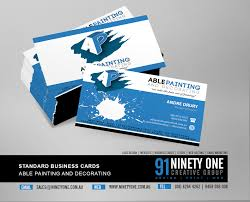 Business Cards Painting Business Card U2013 Ninety One Design