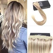 glue extensions halo human hair extensions no glue hair flip in