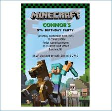 minecraft birthday invitations minecraft birthday invitation printable free domaindir info