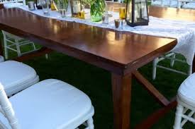event furniture rental wooden dining table bali event furniture rental