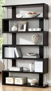 Modloft Pearl Bookcase Barnes Six Shelf Bookcase Shelves Dark And Modern