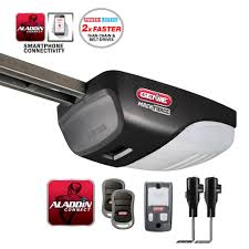 garage door opens by itself genie machforce drive 2 hpc garage door opener with aladdin