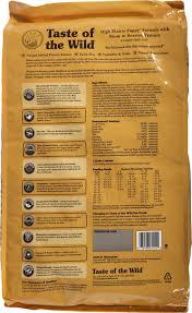 amazon com taste of the wild high prairie puppy formula with