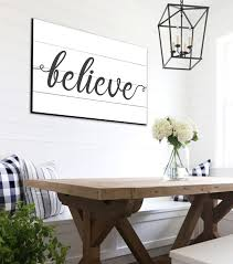believe shiplap sign farmhouse wall decor rustic home decor