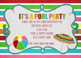 pool party invitations pool party invitations templates free invitations ideas